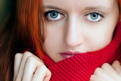 сини очи